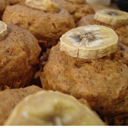 Almond Butter Banana Muffins